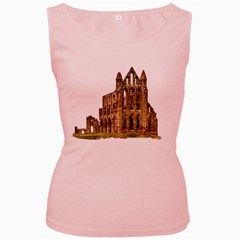 Ruin Monastery Abbey Gothic Whitby Women s Pink Tank Top by Sapixe