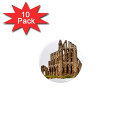 Ruin Monastery Abbey Gothic Whitby 1  Mini Magnet (10 Pack)