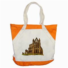 Ruin Monastery Abbey Gothic Whitby Accent Tote Bag by Sapixe