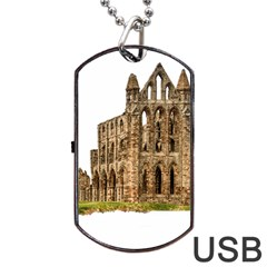 Ruin Monastery Abbey Gothic Whitby Dog Tag Usb Flash (one Side) by Sapixe