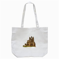 Ruin Monastery Abbey Gothic Whitby Tote Bag (white) by Sapixe