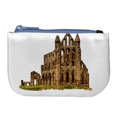 Ruin Monastery Abbey Gothic Whitby Large Coin Purse by Sapixe