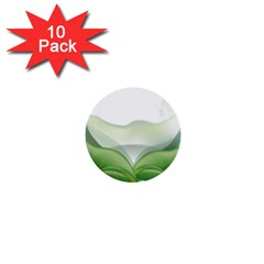 Pearl Drop Flower Plant 1  Mini Buttons (10 Pack)