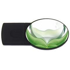 Pearl Drop Flower Plant Usb Flash Drive Oval (4 Gb)