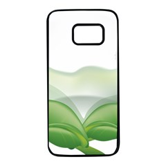 Pearl Drop Flower Plant Samsung Galaxy S7 Black Seamless Case