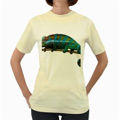 Reptile Lizard Animal Isolated Women s Yellow T Shirt by Sapixe