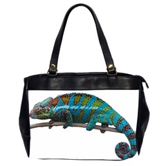 Reptile Lizard Animal Isolated Office Handbags (2 Sides)