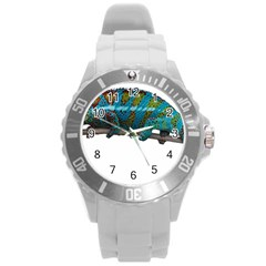 Reptile Lizard Animal Isolated Round Plastic Sport Watch (l) by Sapixe