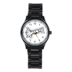 Lettering Points Creative Pen Dots Stainless Steel Round Watch