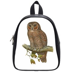 Bird Owl Animal Vintage Isolated School Bag (small) by Sapixe