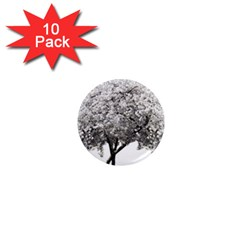Nature Tree Blossom Bloom Cherry 1  Mini Magnet (10 Pack)
