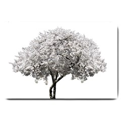 Nature Tree Blossom Bloom Cherry Large Doormat  by Sapixe