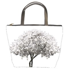 Nature Tree Blossom Bloom Cherry Bucket Bags by Sapixe