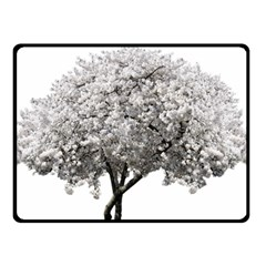 Nature Tree Blossom Bloom Cherry Fleece Blanket (small) by Sapixe