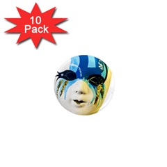 Porcelain Mask Minature Mask 1  Mini Magnet (10 Pack)