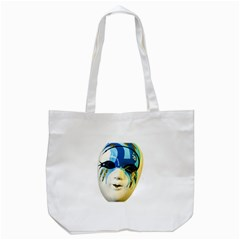 Porcelain Mask Minature Mask Tote Bag (white)