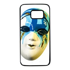 Porcelain Mask Minature Mask Samsung Galaxy S7 Black Seamless Case