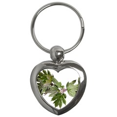 Leaves Plant Branch Nature Foliage Key Chains (heart)  by Sapixe