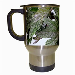 Leaves Plant Branch Nature Foliage Travel Mugs (white) by Sapixe