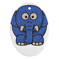 Elephant Animal Cartoon Elephants Ornament (oval)