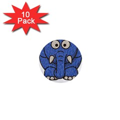Elephant Animal Cartoon Elephants 1  Mini Buttons (10 Pack)