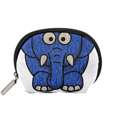 Elephant Animal Cartoon Elephants Accessory Pouches (small)  by Sapixe