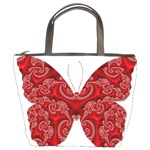 Butterfly Red Fractal Art Nature Bucket Bags Front