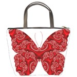 Butterfly Red Fractal Art Nature Bucket Bags Back