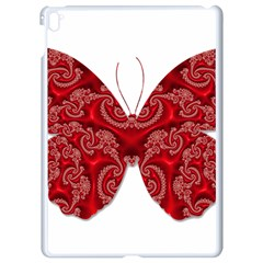 Butterfly Red Fractal Art Nature Apple Ipad Pro 9 7   White Seamless Case