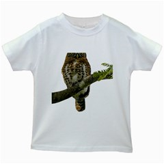 Owl Bird Kids White T Shirts