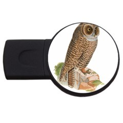Bird Owl Animal Vintage Isolated Usb Flash Drive Round (2 Gb) by Sapixe