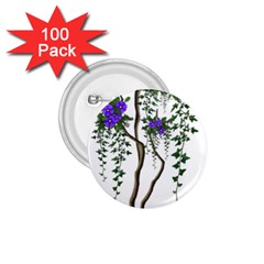 Image Cropped Tree With Flowers Tree 1 75  Buttons (100 Pack)  by Sapixe