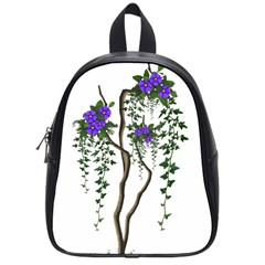 Image Cropped Tree With Flowers Tree School Bag (small) by Sapixe