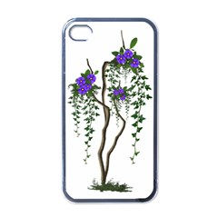 Image Cropped Tree With Flowers Tree Apple Iphone 4 Case (black)