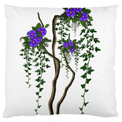 Image Cropped Tree With Flowers Tree Standard Flano Cushion Case (two Sides) by Sapixe