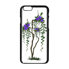 Image Cropped Tree With Flowers Tree Apple Iphone 6/6s Black Enamel Case