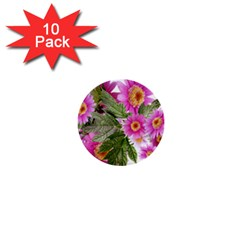 Daisies Flowers Arrangement Summer 1  Mini Buttons (10 Pack)