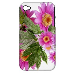 Daisies Flowers Arrangement Summer Apple Iphone 4/4s Hardshell Case (pc+silicone) by Sapixe