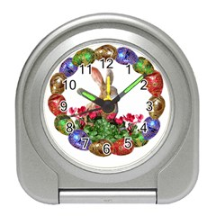 Easter Eggs Rabbit Celebration Travel Alarm Clocks