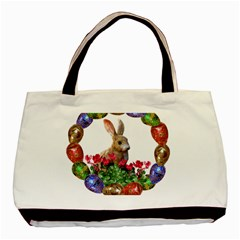 Easter Eggs Rabbit Celebration Basic Tote Bag by Sapixe