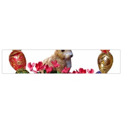 Easter Eggs Rabbit Celebration Small Flano Scarf