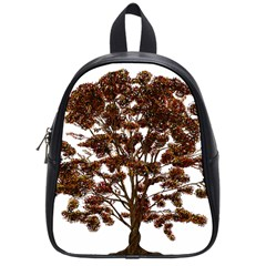 Tree Vector Ornament Color School Bag (small) by Sapixe