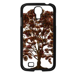 Tree Vector Ornament Color Samsung Galaxy S4 I9500/ I9505 Case (black)