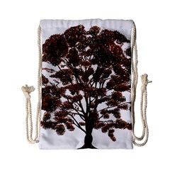 Tree Vector Ornament Color Drawstring Bag (small) by Sapixe