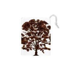 Tree Vector Ornament Color Drawstring Pouches (xs)  by Sapixe
