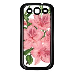 Flower Plant Blossom Bloom Vintage Samsung Galaxy S3 Back Case (black)