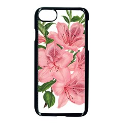 Flower Plant Blossom Bloom Vintage Apple Iphone 8 Seamless Case (black) by Sapixe