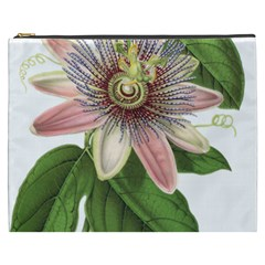 Passion Flower Flower Plant Blossom Cosmetic Bag (xxxl)  by Sapixe