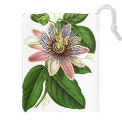 Passion Flower Flower Plant Blossom Drawstring Pouches (xxl) by Sapixe