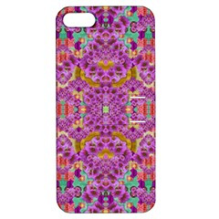 Fantasy Flower Festoon Garland Of Calm Apple Iphone 5 Hardshell Case With Stand by pepitasart